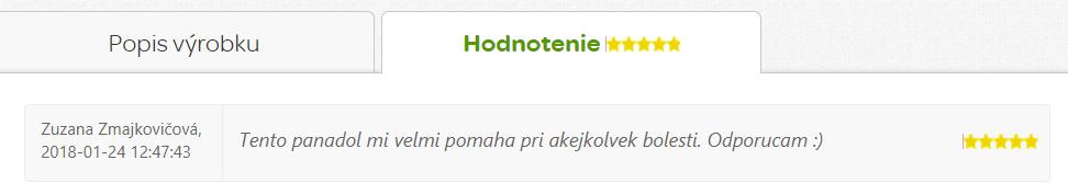 Recenizia Panadol Extra Novum na Pilulka.sk