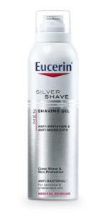 Eucerin MEN SILVER SHAVE gél na holenie pre mužov 150 ml