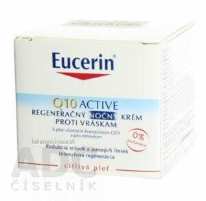 Eucerin Q10 ACTIVE nočný krém proti vráskam regeneračný na citlivú pokožku 1×50 ml