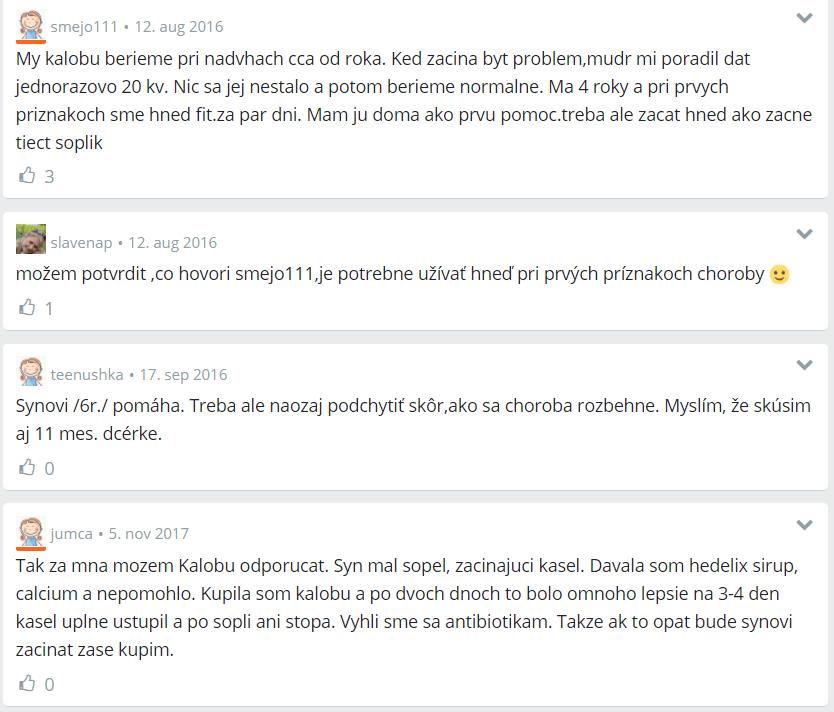 Kaloba- diskusia Modrý koník