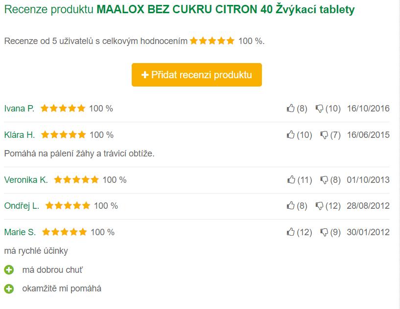 Maalox - recenzie