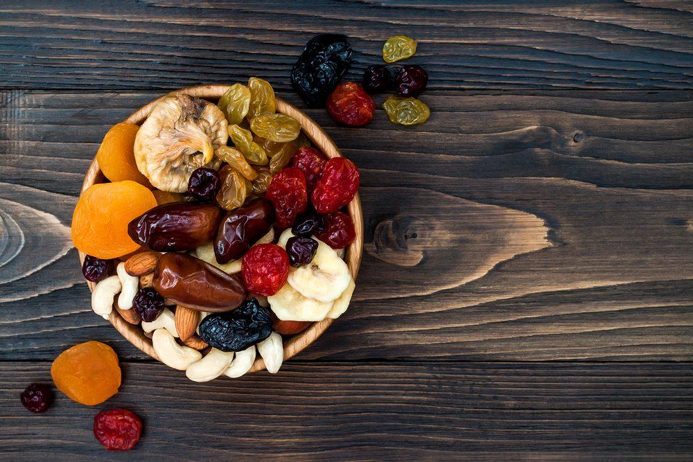 sušené ovocie a oriešky pri Mačingovej diéte
