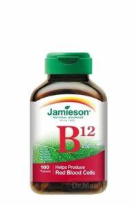 JAMIESON VITAMÍN B12 KYANOKOBALAMÍN 250 µg