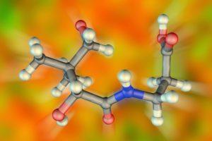 Molekula D-panthenolu