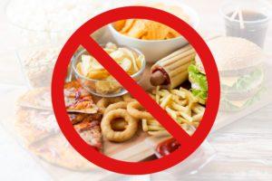 nezdravé jedlo
