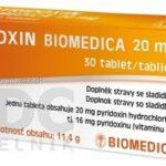 PYRIDOXIN BIOMEDICA 20 mg tbl 3×10 ks (30 ks)