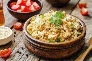 quinoa s kuracím mäsom