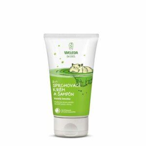 Weleda 2 v 1 sprchovací krém a šampón Veselá limetka 150 ml