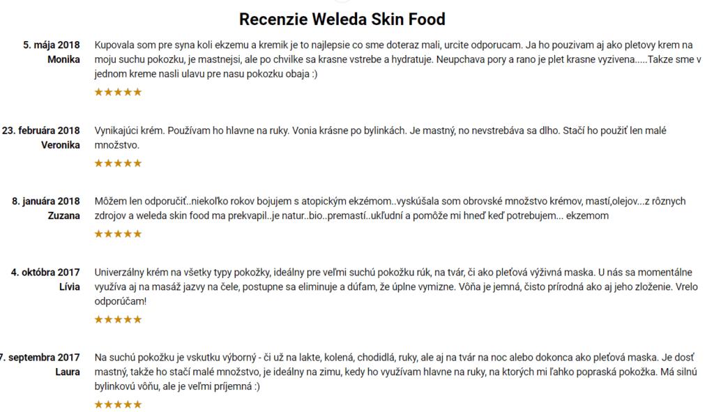 Weleda Skin Food - recenzie