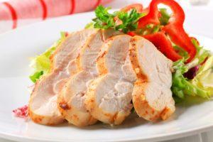 morčacie prsia so šalátom pri histamínovej diéte
