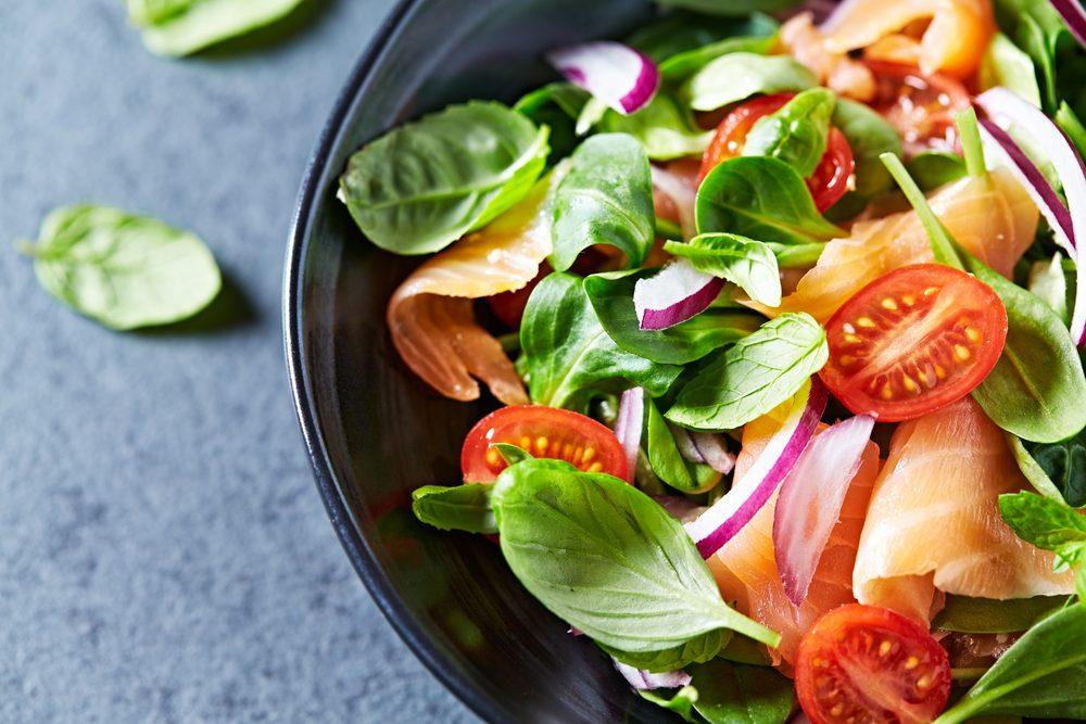 zeleninový šalát pri histamínovej diéte