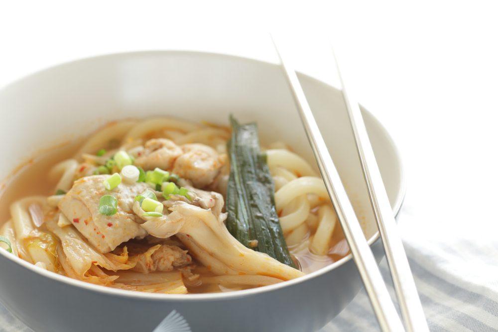 Kórejské kimchi s hubami maitake