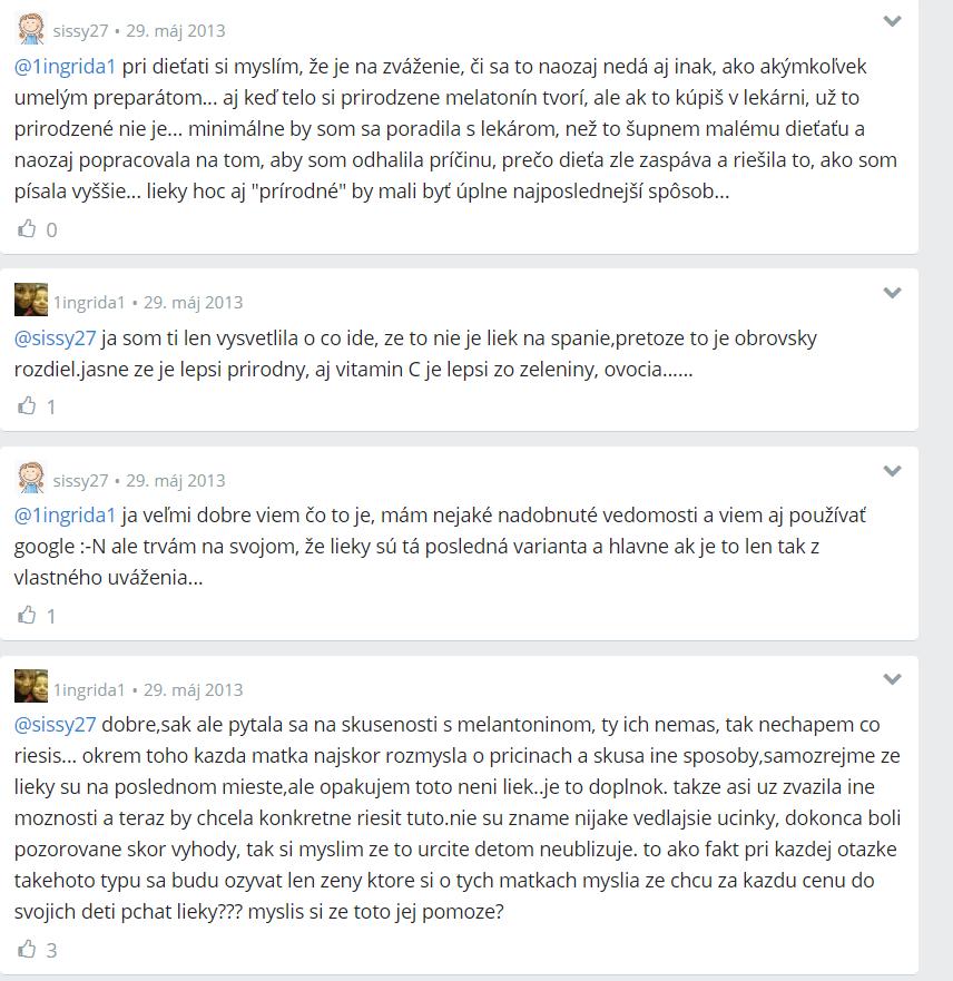 Melatonín - diskusia