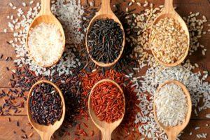 ryžová diéta a druhy ryže