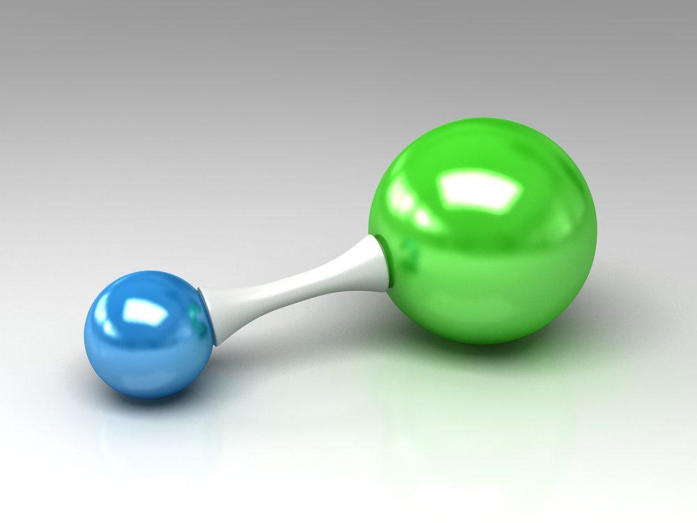 Molekula kyseliny chlorovodíkovej