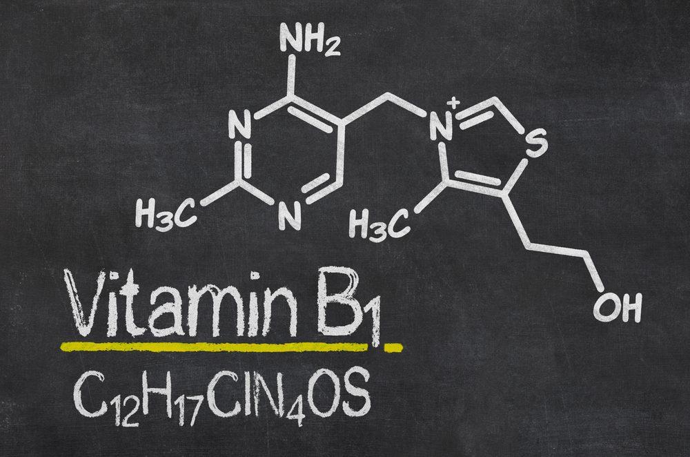 Ako prvá zložka B-komplexu bol objavený tiamín - vitamín B1