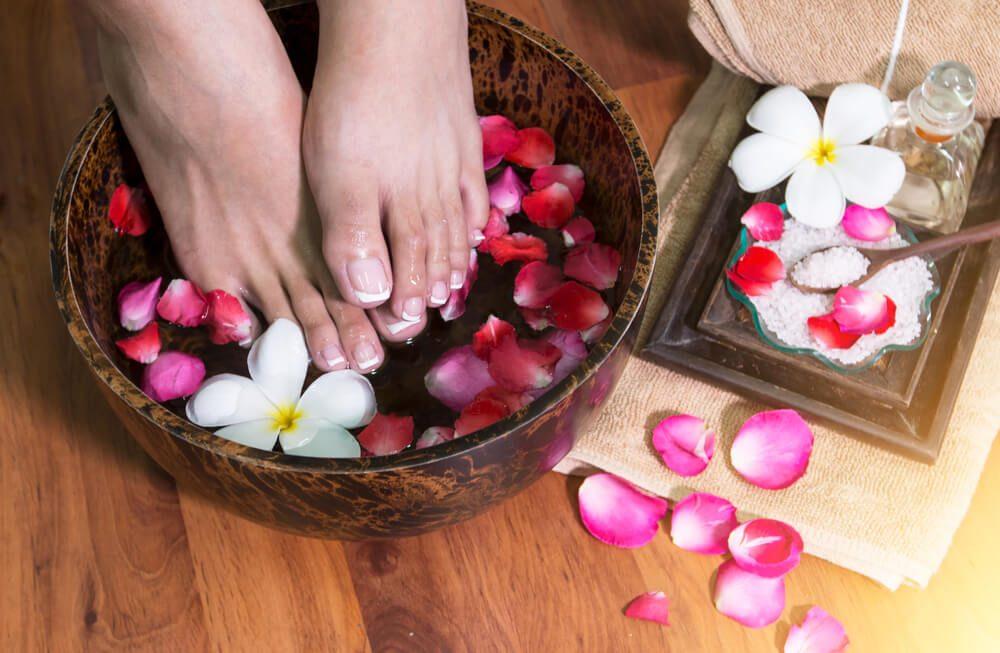 Relaxačný kúpeľ pre nohy