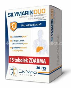 Silymarin duo Da Vinci 30+15 kapsúl zadarmo