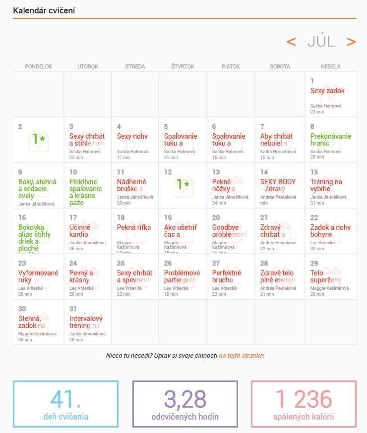 fitshaker kalendár