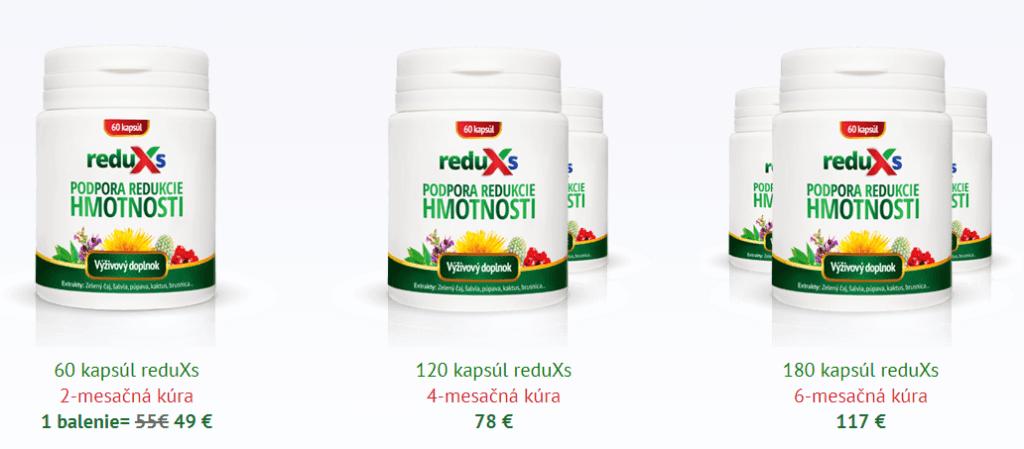 dostupné balenia prípravku ReduXs