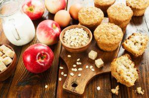 jablkové muffiny z ovsených vločiek