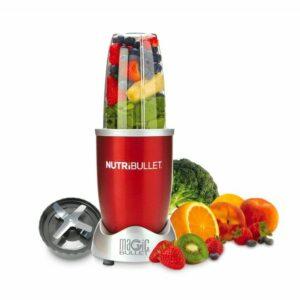 Červený super mixér, 600 W (sada 5 ks) Nutribullet