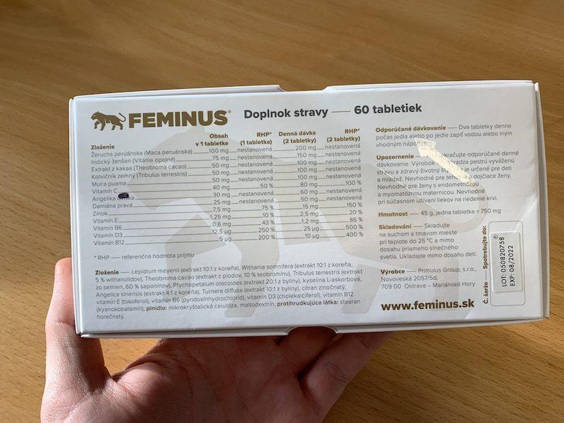 Feminus - informácie: zloženie, dávkovanie