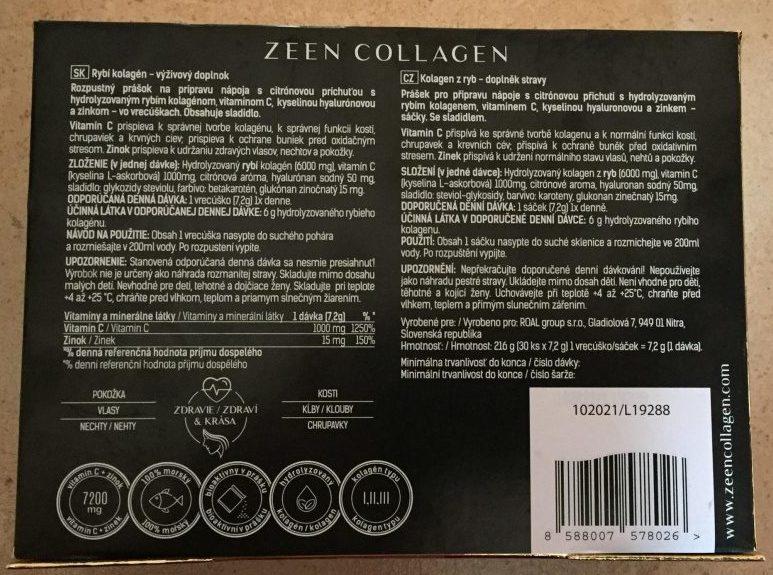 Zloženie Zeen Collagenu