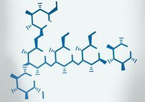 Beta glukán - chemický vzorec
