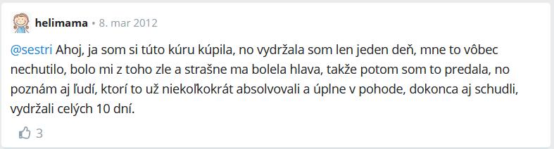 skúsenosti s citrónovou diétou z fóra modrykonik.sk