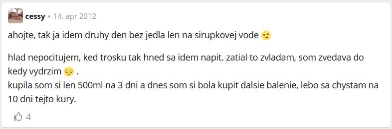 recenzia na citrónovú diétu z fóra modrykonik.sk