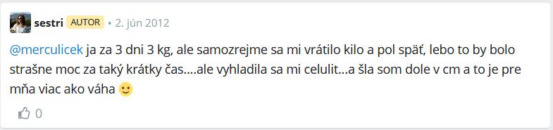 hodnotenie citrónovej diéty z fóra modrykonik.sk