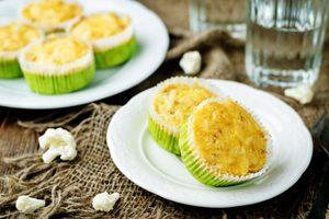 karfiolové koláčiky na tanieri - recept obličková diéta
