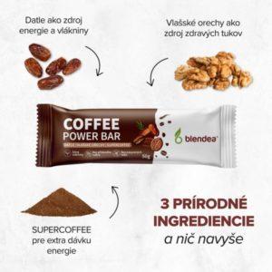 Zloženie energetickej tyčinky coffee blendea