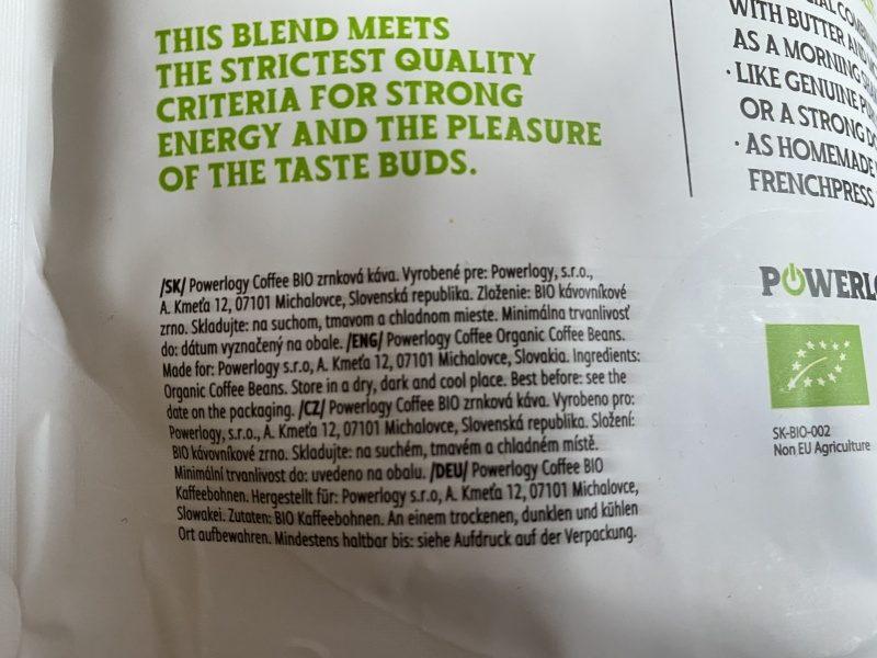Zloženie Powerlogy Coffee